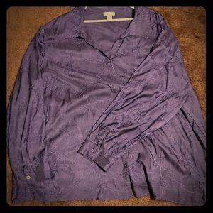 Catherine's 4x blouse purple dressy